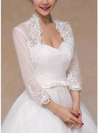 Wrap Wedding Lace Long Sleeve Other Colors Wraps