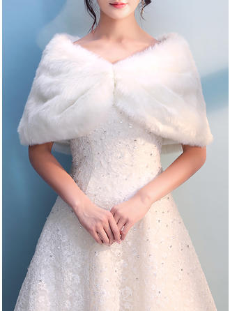 Wrap Wedding Faux Fur Ivory Wraps