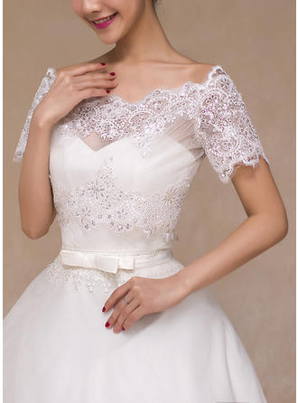 Wrap Wedding Lace Short Sleeve Other Colors Wraps