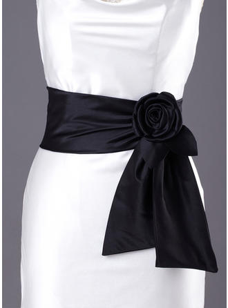 Women Satin With Flower Sash Simple Sashes & Belts