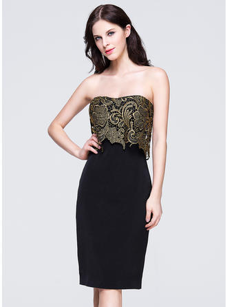Sheath/Column Sweetheart Knee-Length Evening Dresses