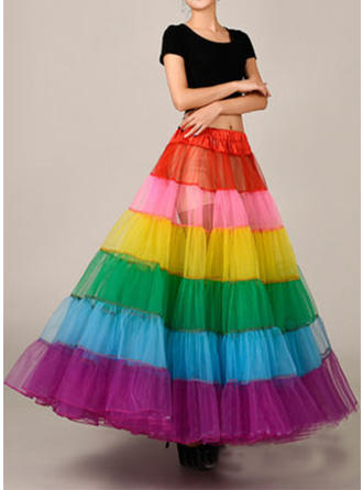 Bustle Ankle-length Tulle Netting/Satin Ball Gown Slip 2 Tiers Petticoats
