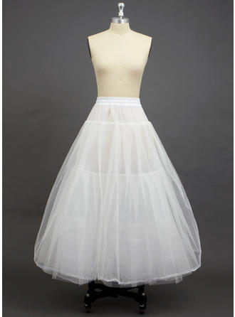 Petticoats Floor-length Tulle Netting/Polyester A-Line Slip 3 Tiers Petticoats