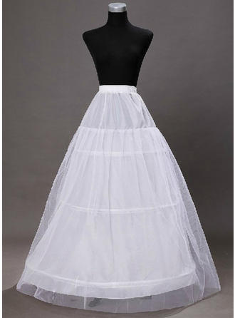 Bustle Ankle-length Tulle Netting/Taffeta/Satin/Lace A-Line Slip 2 Tiers Petticoats