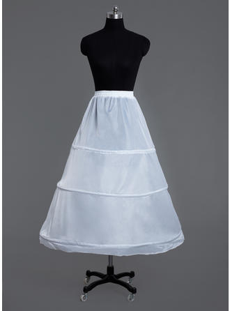 Petticoats Floor-length Polyester A-Line Slip/Full Gown Slip 1 Tiers Petticoats