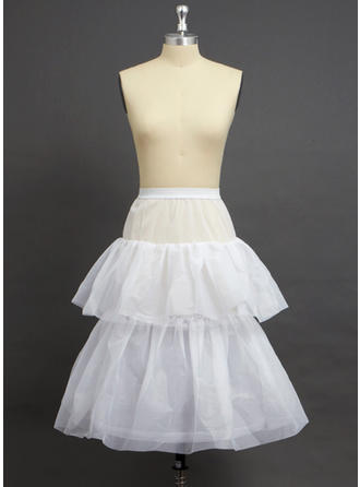Petticoats Knee-length Nylon/Tulle Netting Full Gown Slip/Flower Girl Slip 2 Tiers Petticoats