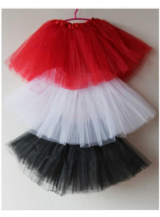 Bustle Short-length Tulle Netting/Satin Ball Gown Slip/Flower Girl Slip 2 Tiers Petticoats