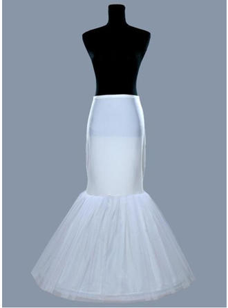 Bustle Floor-length Tulle Netting/Satin Full Gown Slip 1 Tiers Petticoats