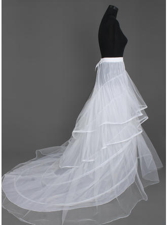 Petticoats Cathedral Train Nylon/Tulle Netting A-Line Slip/Full Gown Slip 3 Tiers Petticoats